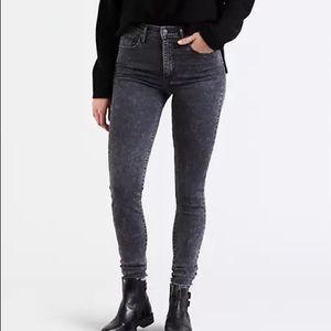 Levi's 28 premium mile high super skinny jeans 702